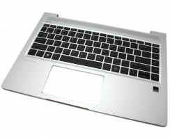 Tastatura HP ProBook 440 G7 Neagra cu Palmrest Argintiu iluminata backlit. Keyboard HP ProBook 440 G7 Neagra cu Palmrest Argintiu. Tastaturi laptop HP ProBook 440 G7 Neagra cu Palmrest Argintiu. Tastatura notebook HP ProBook 440 G7 Neagra cu Palmrest Argintiu