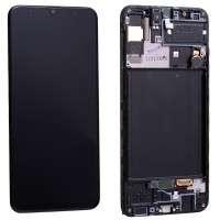 Ansamblu Display LCD + Touchscreen Samsung Galaxy A30S A307 Display Original Service Pack Negru Black Negru . Ecran + Digitizer Samsung Galaxy A30S A307 Display Original Service Pack Negru Black