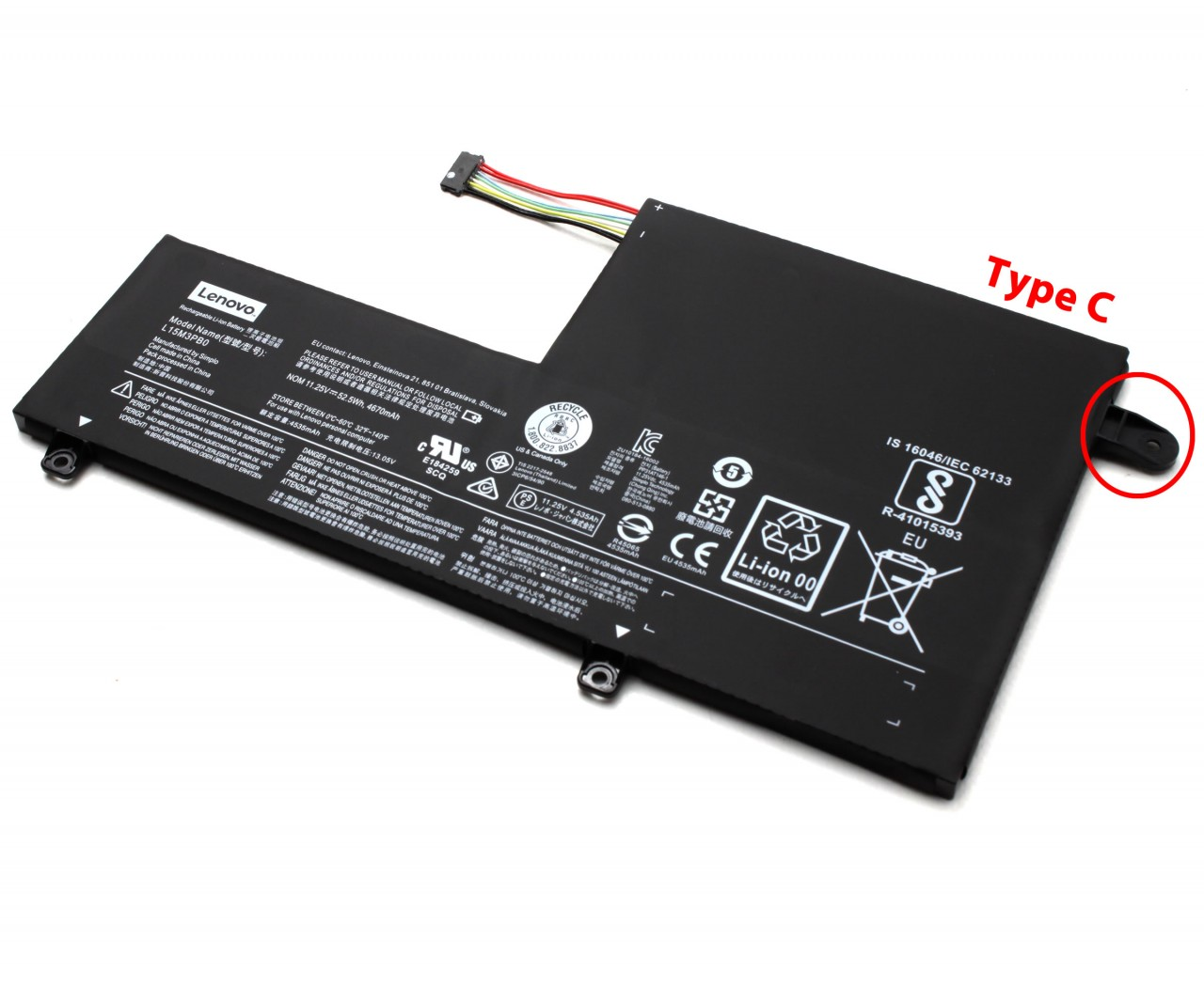 Baterie Lenovo IdeaPad 520S-14IKB Originala 52.5Wh Type C imagine powerlaptop.ro 2021