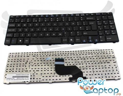 Tastatura Medion Akoya P6634 cu rama. Keyboard Medion Akoya P6634 cu rama. Tastaturi laptop Medion Akoya P6634 cu rama. Tastatura notebook Medion Akoya P6634 cu rama