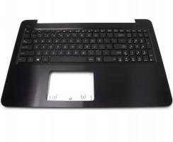 Tastatura Asus  F556U cu Palmrest maro. Keyboard Asus  F556U cu Palmrest maro. Tastaturi laptop Asus  F556U cu Palmrest maro. Tastatura notebook Asus  F556U cu Palmrest maro