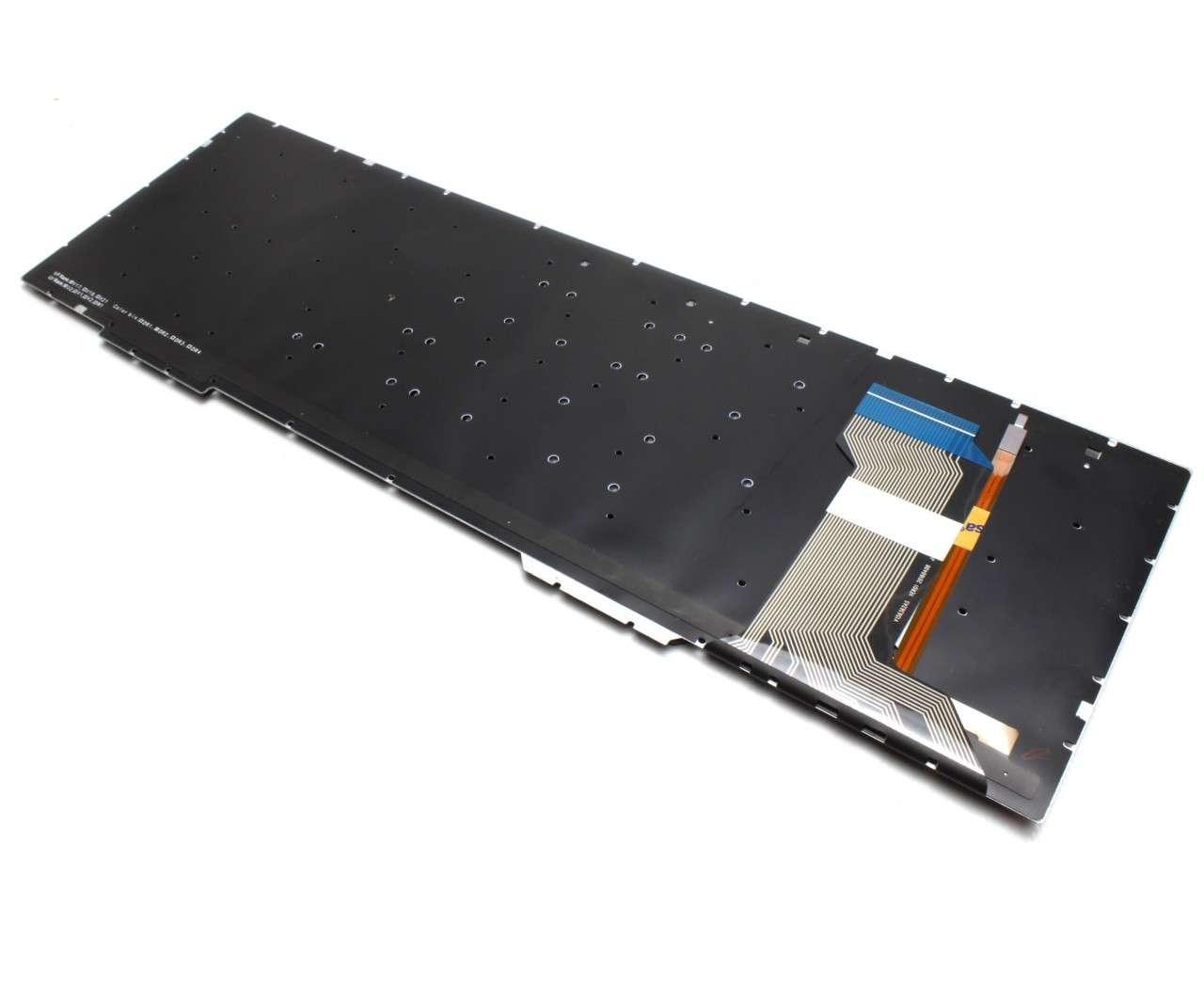 Tastatura Asus FZ53V iluminata layout US fara rama enter mic imagine powerlaptop.ro 2021