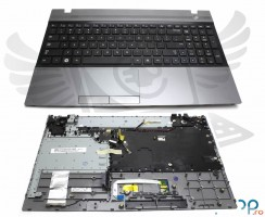 Tastatura Samsung  BA75-03318A neagra cu Palmrest gri. Keyboard Samsung  BA75-03318A neagra cu Palmrest gri. Tastaturi laptop Samsung  BA75-03318A neagra cu Palmrest gri. Tastatura notebook Samsung  BA75-03318A neagra cu Palmrest gri