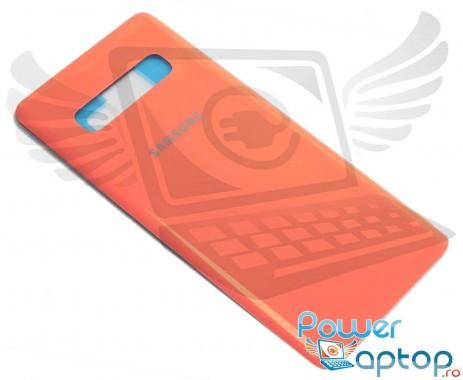 Capac Baterie Samsung Galaxy S10+ Plus G975 Roz Flamingo Pink. Capac Spate Samsung Galaxy S10+ Plus G975 Roz Flamingo Pink