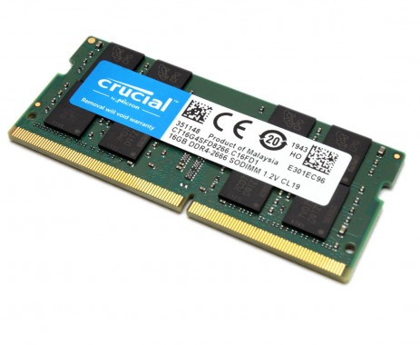 Memorie Laptop Crucial 16GB DDR4 1.2V CL19 2666MHz