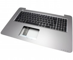 Tastatura Asus P2740UV neagra cu Palmrest argintiu. Keyboard Asus P2740UV neagra cu Palmrest argintiu. Tastaturi laptop Asus P2740UV neagra cu Palmrest argintiu. Tastatura notebook Asus P2740UV neagra cu Palmrest argintiu