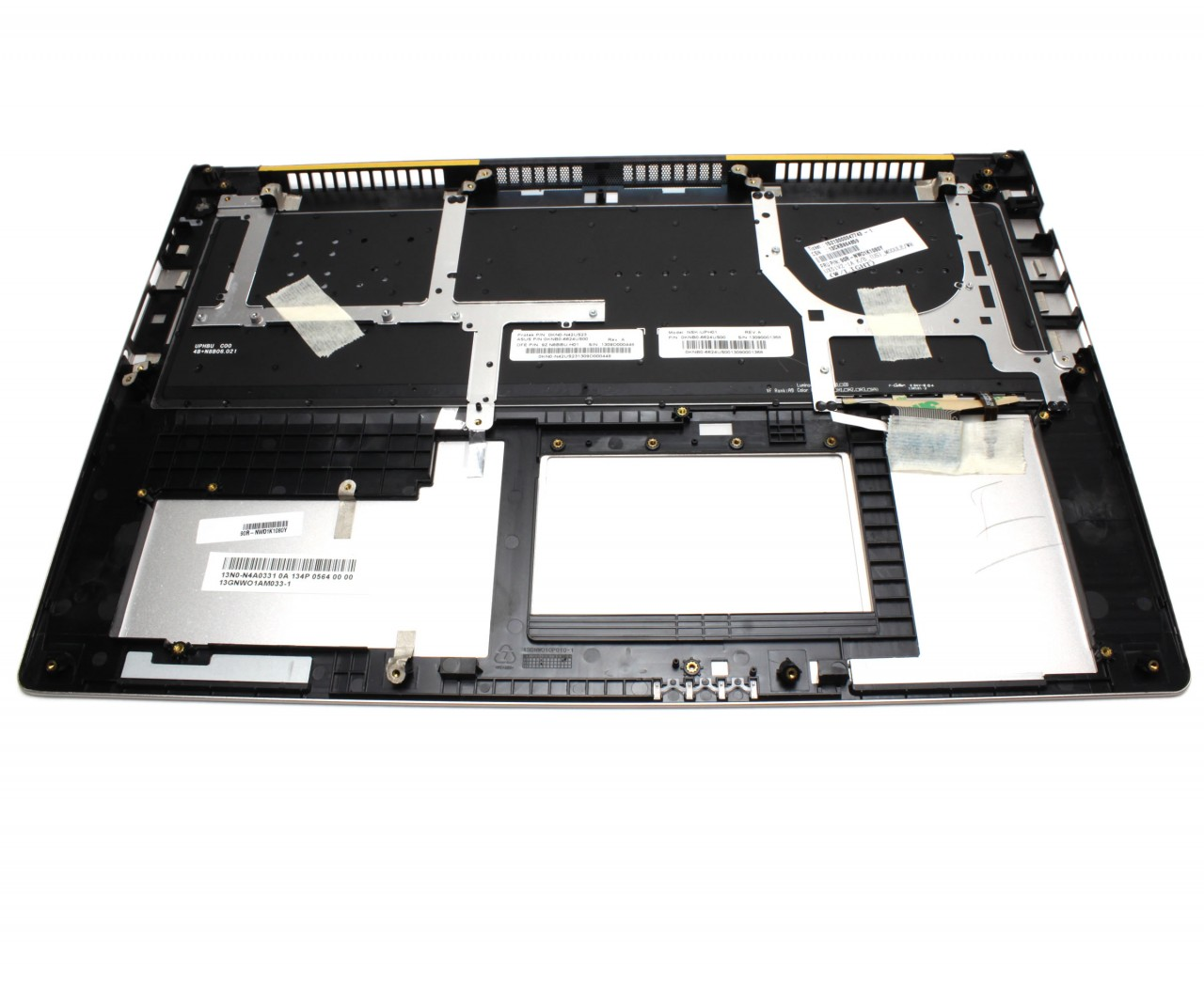 Tastatura Asus UX51 neagra cu Palmrest argintiu iluminata backlit imagine powerlaptop.ro 2021