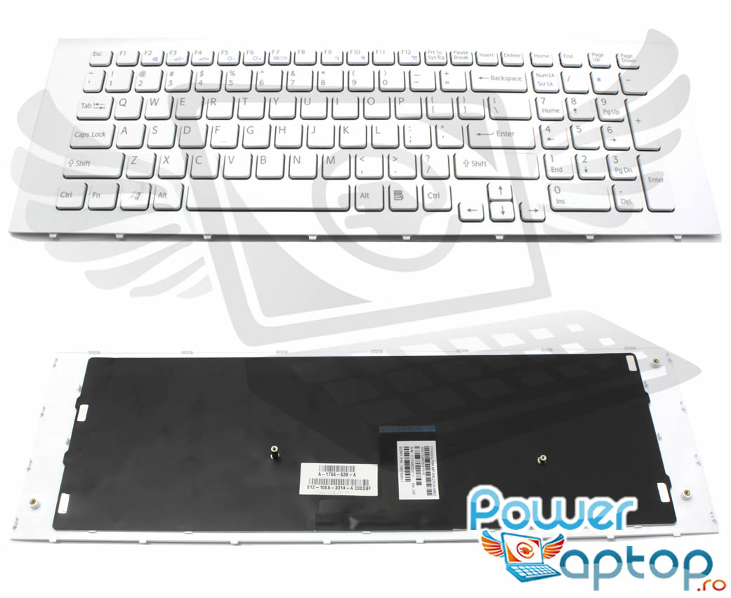 Tastatura Sony Vaio VPC EC series alba imagine powerlaptop.ro 2021