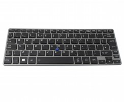 Tastatura Toshiba Portege Z30-A-1DQ Rama gri iluminata backlit. Keyboard Toshiba Portege Z30-A-1DQ Rama gri. Tastaturi laptop Toshiba Portege Z30-A-1DQ Rama gri. Tastatura notebook Toshiba Portege Z30-A-1DQ Rama gri
