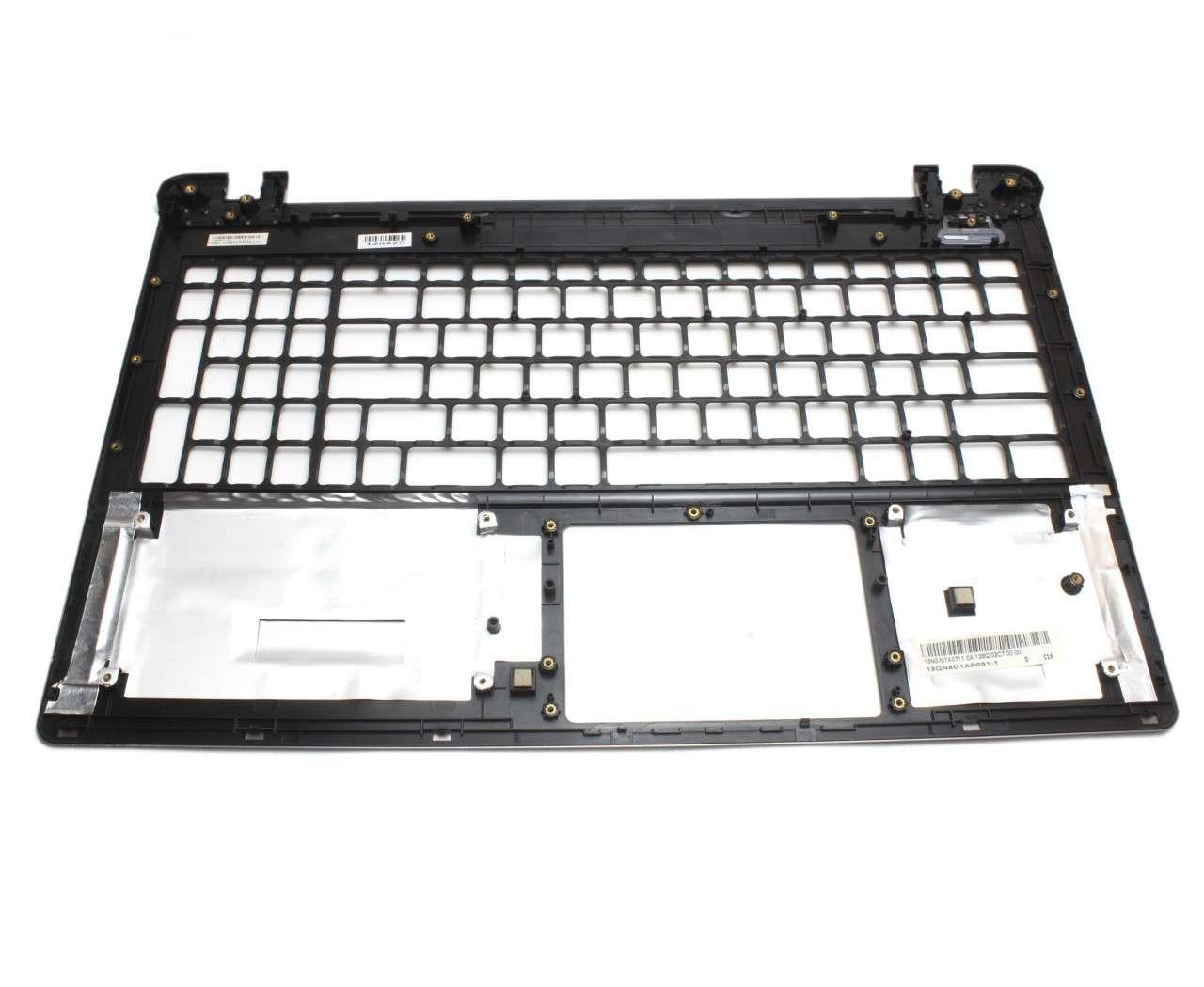 Palmrest Asus X55C Negru fara touchpad imagine