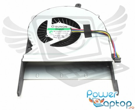 Cooler laptop Asus  13NB06R1AM0301 Mufa 4 pini. Ventilator procesor Asus  13NB06R1AM0301. Sistem racire laptop Asus  13NB06R1AM0301