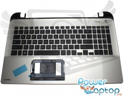 Tastatura Toshiba Satellite L50-B Neagra cu Palmrest Argintiu. Keyboard Toshiba Satellite L50-B Neagra cu Palmrest Argintiu. Tastaturi laptop Toshiba Satellite L50-B Neagra cu Palmrest Argintiu. Tastatura notebook Toshiba Satellite L50-B Neagra cu Palmrest Argintiu