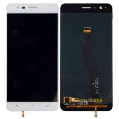 Ansamblu Display LCD  + Touchscreen Asus Zenfone 3 Zoom ZE553KL Z01HD White Alb. Modul Ecran + Digitizer Asus Zenfone 3 Zoom ZE553KL Z01HD White Alb