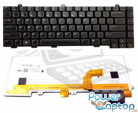 Tastatura Dell  2M4NW iluminata backlit. Keyboard Dell  2M4NW iluminata backlit. Tastaturi laptop Dell  2M4NW iluminata backlit. Tastatura notebook Dell  2M4NW iluminata backlit