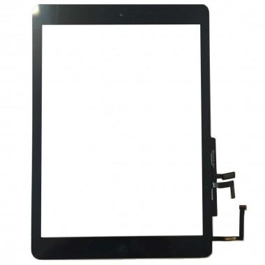 Digitizer Touchscreen Apple iPad 5 A1823 cu buton home si adeziv Negru. Geam Sticla Tableta Apple iPad 5 A1823 cu buton home si adeziv Negru