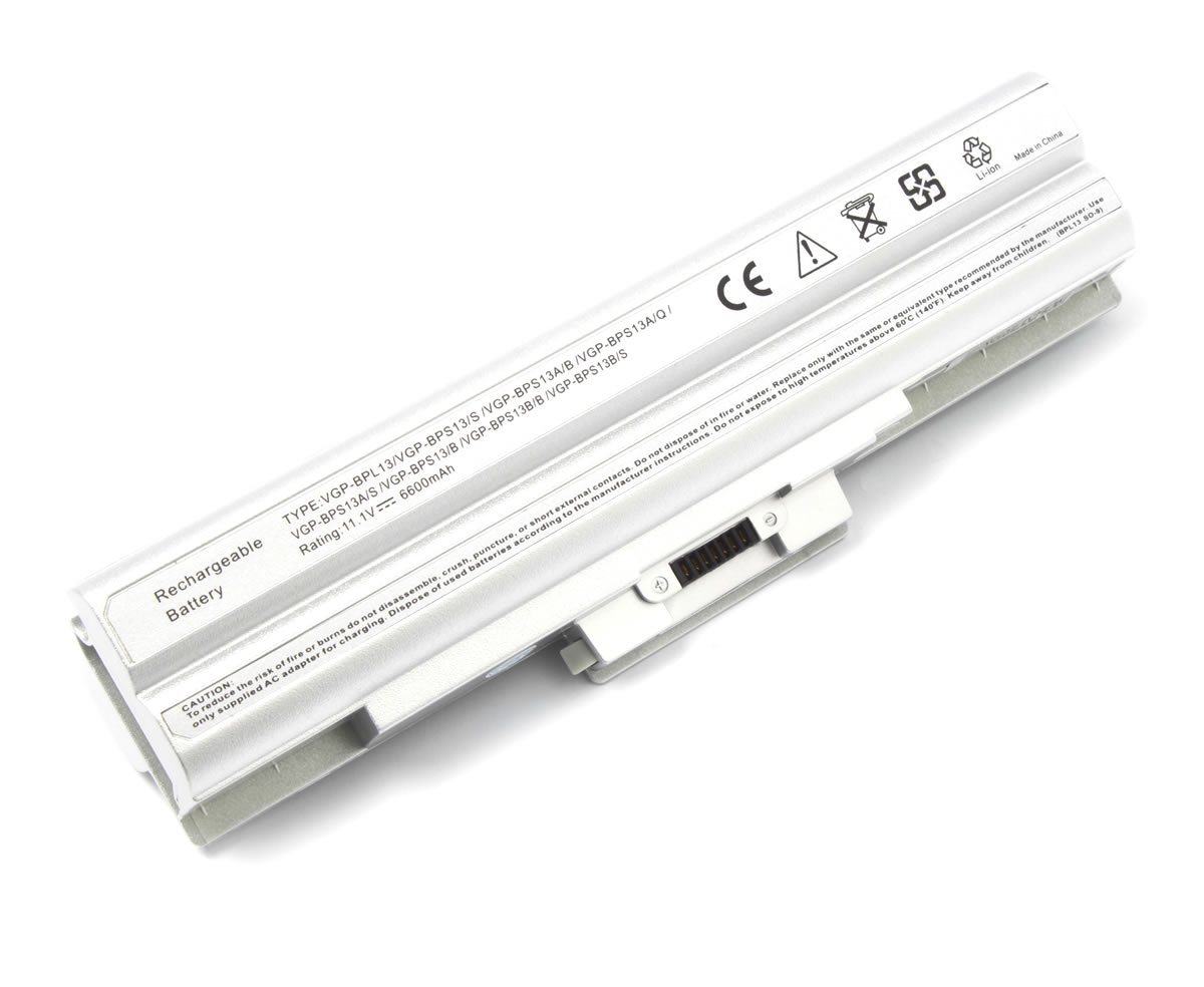 Baterie Sony Vaio VGN CS31S T 9 celule argintie imagine