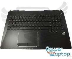Tastatura Asus G750JS iluminata cu Palmrest negru si Touchpad. Keyboard Asus G750JS iluminata cu Palmrest negru si Touchpad. Tastaturi laptop Asus G750JS iluminata cu Palmrest negru si Touchpad. Tastatura notebook Asus G750JS iluminata cu Palmrest negru si Touchpad