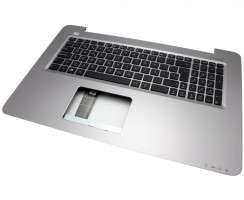 Tastatura Asus K756UX neagra cu Palmrest argintiu. Keyboard Asus K756UX neagra cu Palmrest argintiu. Tastaturi laptop Asus K756UX neagra cu Palmrest argintiu. Tastatura notebook Asus K756UX neagra cu Palmrest argintiu