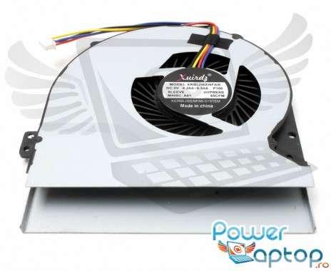Cooler laptop Asus  S56CA  7 mm grosime. Ventilator procesor Asus  S56CA. Sistem racire laptop Asus  S56CA