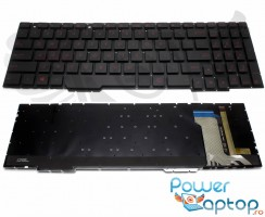 Tastatura Asus  90NB0DW7 R30US0 iluminata. Keyboard Asus  90NB0DW7 R30US0. Tastaturi laptop Asus  90NB0DW7 R30US0. Tastatura notebook Asus  90NB0DW7 R30US0