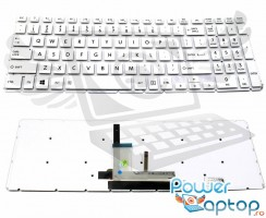 Tastatura Toshiba Satellite L55-B Alba iluminata. Keyboard Toshiba Satellite L55-B. Tastaturi laptop Toshiba Satellite L55-B. Tastatura notebook Toshiba Satellite L55-B
