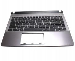 Tastatura Asus U32VM neagra cu Palmrest gri. Keyboard Asus U32VM neagra cu Palmrest gri. Tastaturi laptop Asus U32VM neagra cu Palmrest gri. Tastatura notebook Asus U32VM neagra cu Palmrest gri