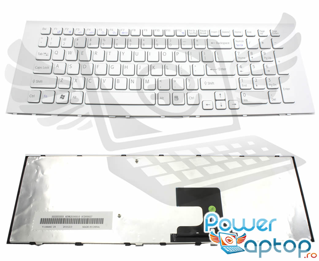 Tastatura Sony Vaio VPCEJ2AJ alba imagine powerlaptop.ro 2021