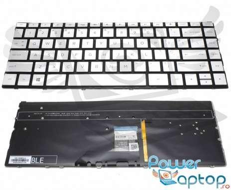 Tastatura HP Envy 13-AD argintie iluminata backlit. Keyboard HP Envy 13-AD argintie. Tastaturi laptop HP Envy 13-AD argintie. Tastatura notebook HP Envy 13-AD argintie