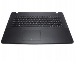 Tastatura Asus  X751 neagra cu Palmrest negru. Keyboard Asus  X751 neagra cu Palmrest negru. Tastaturi laptop Asus  X751 neagra cu Palmrest negru. Tastatura notebook Asus  X751 neagra cu Palmrest negru