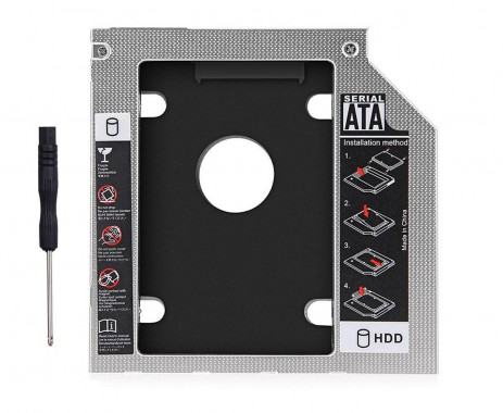 HDD Caddy laptop 9mm intern SATA extern SATA
