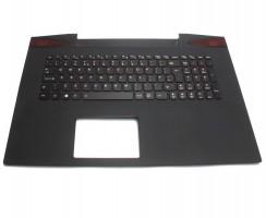 Tastatura Lenovo  5CB0G59795 neagra cu Palmrest negru iluminata backlit. Keyboard Lenovo  5CB0G59795 neagra cu Palmrest negru. Tastaturi laptop Lenovo  5CB0G59795 neagra cu Palmrest negru. Tastatura notebook Lenovo  5CB0G59795 neagra cu Palmrest negru