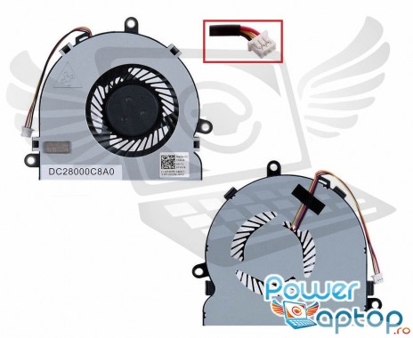 Cooler laptop Dell Inspiron 5721. Ventilator procesor Dell Inspiron 5721. Sistem racire laptop Dell Inspiron 5721