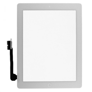 Digitizer Touchscreen Apple iPad 4 A1459 A1458 cu buton home si adeziv Alb. Geam Sticla Tableta Apple iPad 4 A1459 A1458 cu buton home si adeziv Alb