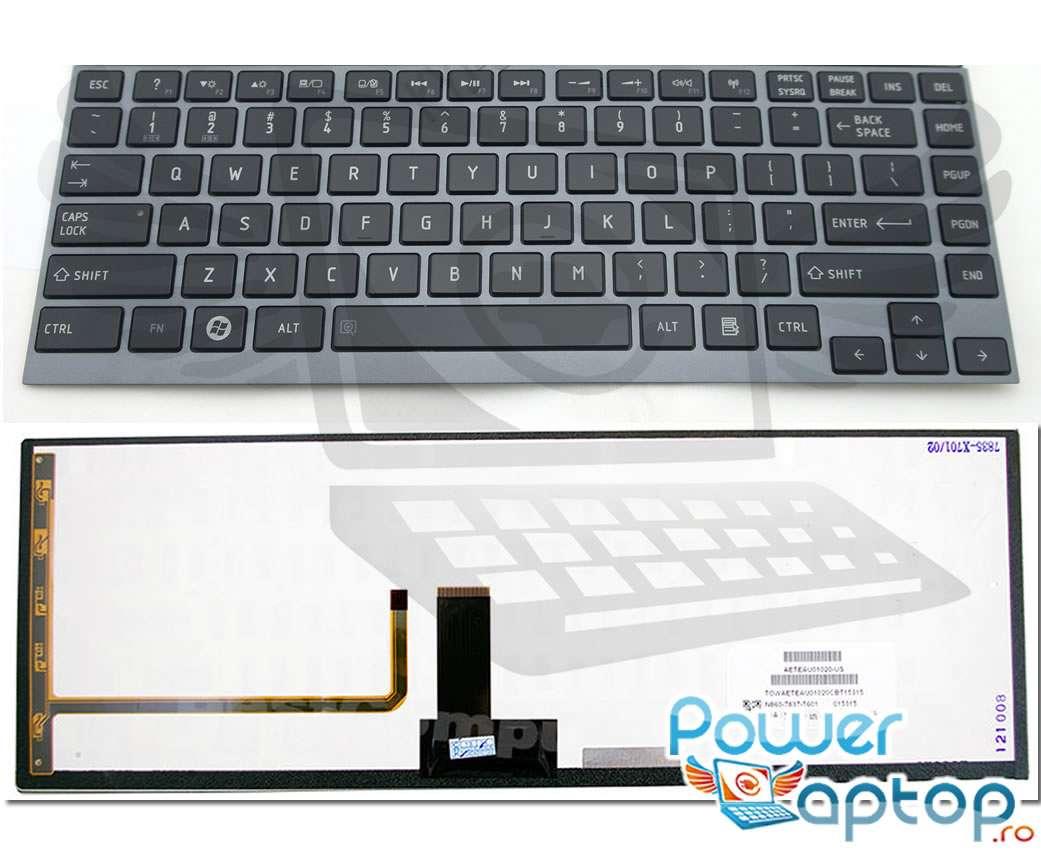 Tastatura Toshiba AEBU6F00010 FR iluminata backlit imagine powerlaptop.ro 2021
