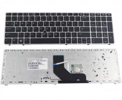 Tastatura HP ProBook 6560b rama argintie. Keyboard HP ProBook 6560b rama argintie. Tastaturi laptop HP ProBook 6560b rama argintie. Tastatura notebook HP ProBook 6560b rama argintie