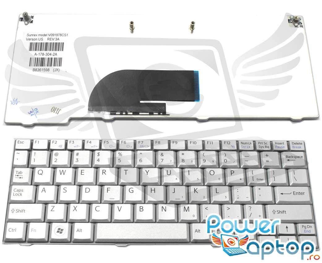 Tastatura Sony Vaio VPCM121AX argintie imagine powerlaptop.ro 2021