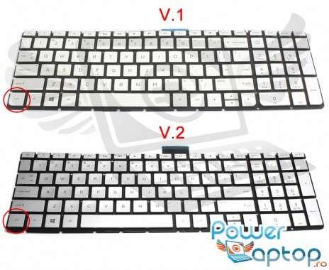 Tastatura HP Pavilion 17-AB argintie iluminata. Keyboard HP Pavilion 17-AB. Tastaturi laptop HP Pavilion 17-AB. Tastatura notebook HP Pavilion 17-AB