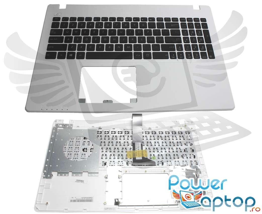 Tastatura Asus R510LD neagra cu Palmrest alb imagine powerlaptop.ro 2021