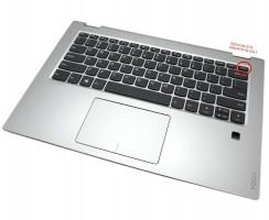 Palmrest Lenovo S1CS008AX000. Carcasa Superioara Lenovo S1CS008AX000 Argintiu cu tastatura si touchpad inclus