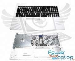 Tastatura Asus  R512M neagra cu Palmrest alb. Keyboard Asus  R512M neagra cu Palmrest alb. Tastaturi laptop Asus  R512M neagra cu Palmrest alb. Tastatura notebook Asus  R512M neagra cu Palmrest alb