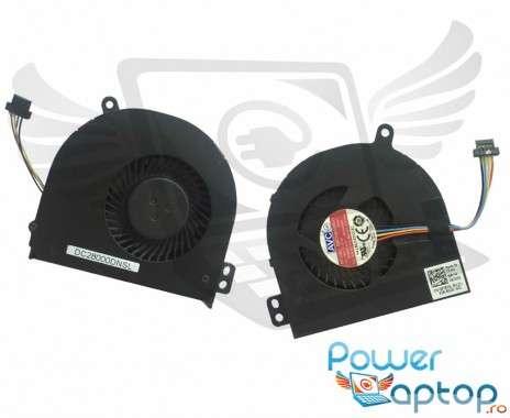Cooler laptop Dell  87XFX Mufa 4 pini. Ventilator procesor Dell  87XFX. Sistem racire laptop Dell  87XFX
