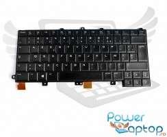 Tastatura Dell  2M4NW iluminata backlit FR. Keyboard Dell  2M4NW iluminata backlit. Tastaturi laptop Dell  2M4NW iluminata backlit. Tastatura notebook Dell  2M4NW iluminata backlit