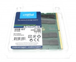 Kit Memorie Laptop Crucial 2X16GB DDR4 1.2V CL19 2666MHz