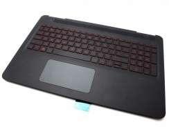 Tastatura HP Pavilion 15-bc Neagra cu Palmrest Negru si TouchPad iluminata backlit. Keyboard HP Pavilion 15-bc Neagra cu Palmrest Negru si TouchPad. Tastaturi laptop HP Pavilion 15-bc Neagra cu Palmrest Negru si TouchPad. Tastatura notebook HP Pavilion 15-bc Neagra cu Palmrest Negru si TouchPad