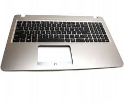 Tastatura Asus  A540S neagra cu Palmrest auriu. Keyboard Asus  A540S neagra cu Palmrest auriu. Tastaturi laptop Asus  A540S neagra cu Palmrest auriu. Tastatura notebook Asus  A540S neagra cu Palmrest auriu