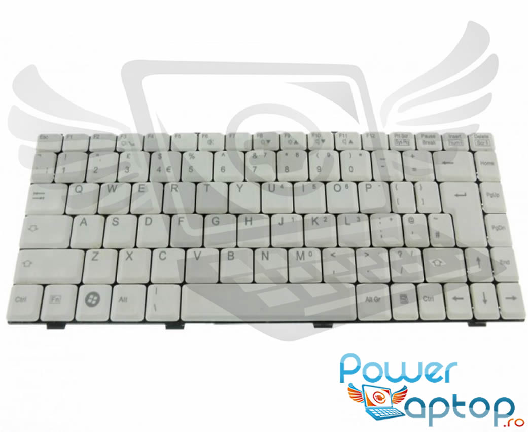 Tastatura Fujitsu Siemens Amilo Li1705 alba imagine powerlaptop.ro 2021