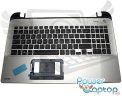 Tastatura Toshiba  A000295230 Neagra cu Palmrest Argintiu. Keyboard Toshiba  A000295230 Neagra cu Palmrest Argintiu. Tastaturi laptop Toshiba  A000295230 Neagra cu Palmrest Argintiu. Tastatura notebook Toshiba  A000295230 Neagra cu Palmrest Argintiu