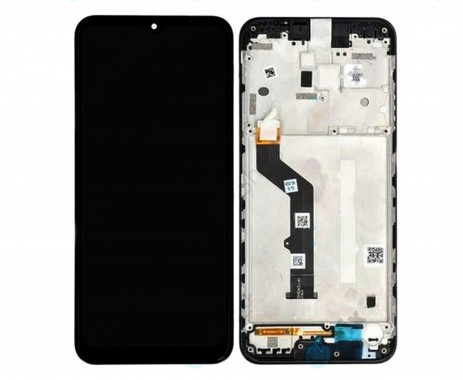 Ansamblu Display LCD  + Touchscreen Motorola Moto E7 PLUS XT2081-1 Original Service Pack cu rama neagra. Modul Ecran + Digitizer Motorola Moto E7 PLUS XT2081-1 Original Service Pack cu rama
