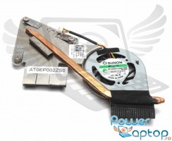 Cooler laptop Dell Mini 12 cu heatpipe. Ventilator procesor Dell Mini 12. Sistem racire laptop Dell Mini 12
