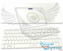 Tastatura eMachines  E640 alba. Keyboard eMachines  E640 alba. Tastaturi laptop eMachines  E640 alba. Tastatura notebook eMachines  E640 alba
